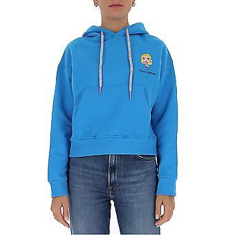 Chiara Ferragni Cff118bl Femmes's Blue Cotton Sweatshirt