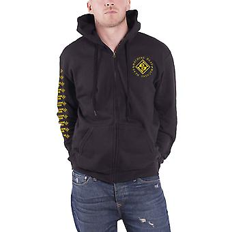 Machine Head Hoodie Diamond Band Logo new Official Mens Black Zipped