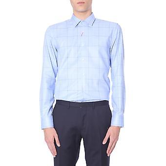 Hugo Boss 5040981910218157459 Heren's Lichtblauw Katoenen Shirt