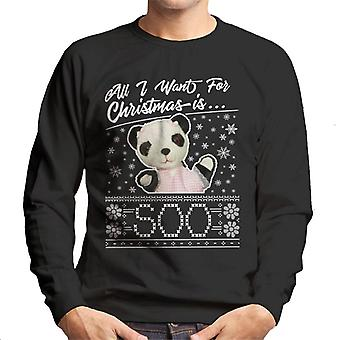 Sooty Christmas All I Want For Christmas Is so Men's Sweatshirt