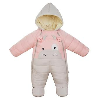 New Born Girl Winter Clothes Baby Wear Boy Snowsuit Cute Calf Infant Jacket Thicken Jumpsuit Children Coat