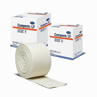 Hartmann Tubular Support Bandage Comperm 4 Inch X 11 Yard Standard Compression Pull On Natural Size F NonSte, 1 Count