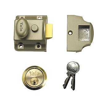 Yale Locks 723 Deadlatch 40mm Backset ENB Finish Box YAL723PB