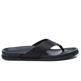 Zwarte Xti heren slippers met Plantar