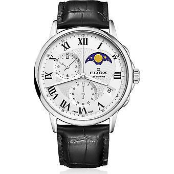 Edox - Relógio de Pulso - Homens - Les Bémonts - Fase da Lua Cronógrafo - 01651 3 AR
