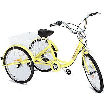 Triciclo di riabilitazione con 3 ruote, 24 ruote, 6 marce