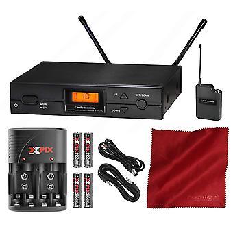 Audio-technica série 2000 atw-2110b sistema uhf bodypack sem fio com pacote acessório