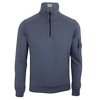 C.p. company men's blue light fleece funnel sweatshirt