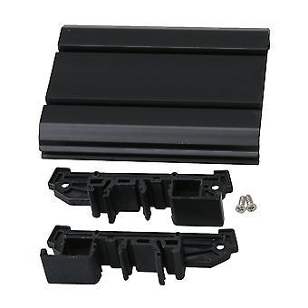 Black UM72 Circuit Board Mounting Slot for Panel Mounting 10.4x8cm