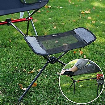Outdoor Folding Camping Fishing Chair Footrest Portable Recliner Retractable