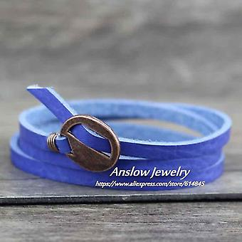 Fashion Jewelry Vintage Multilayer Wrap Leather Bracelet, Women