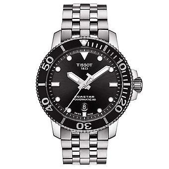 Tissot T1204071105100 Seastar 1000 Powermatic 80 Black & Silver Men's Watch