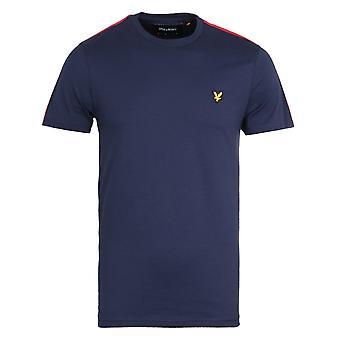 ライル&スコットテーピングネイビー&レッドTシャツ