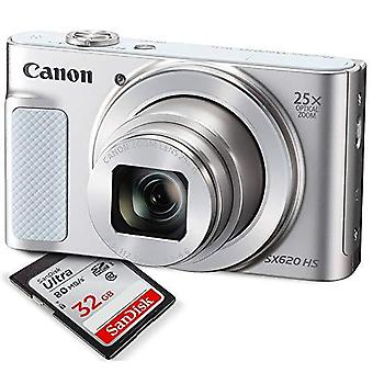 Canon powershot sx620 hs digital camera along with 32gb, deluxe accessory bundle and cleaning kit ps55219