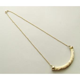 Gold necklace with ivory