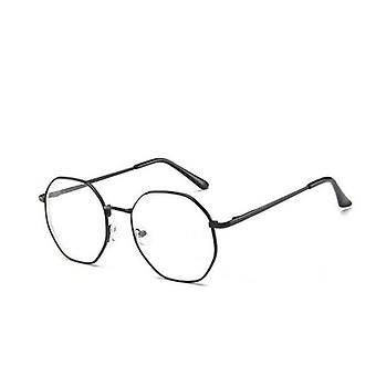Vintage Anti Blue Light Glasses Frame With Degree Round, Myopia Lens
