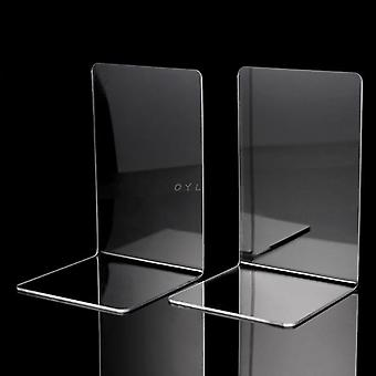 Clear Acrylic Bookends L-shaped Desk Organizer, Desktop Book Holder