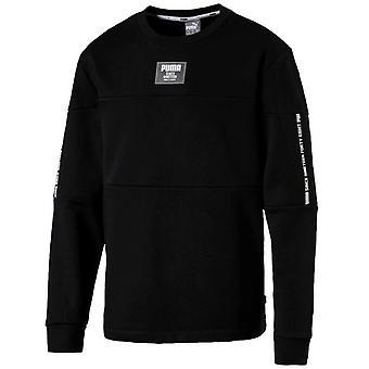 Puma Rebel Block Fleece Collegepaita Pullover Pusero Musta 852399 01 A94D