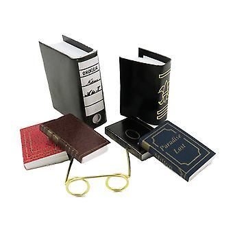 NukkekotiEn valikoima kirjoja &; Lukulasit Office Study Bookshelf -lisävaruste