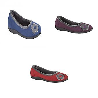 Sleepers Womens/Ladies June Ballerina Velour Slippers