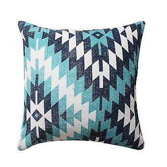 18 X 18 almohada de acento de algodón tejido a mano con estampado geométrico, multicolor