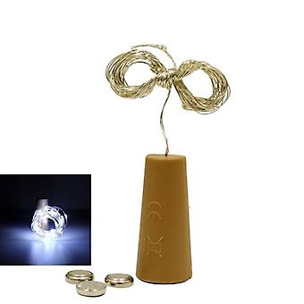 Waterproof, 3m Cork Shaped Battery Case And Led String Lights