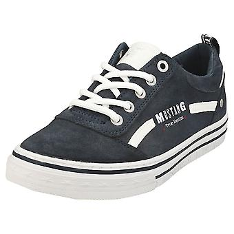 Mustang Jeans Low Top Womens Casual Trainers in Navy