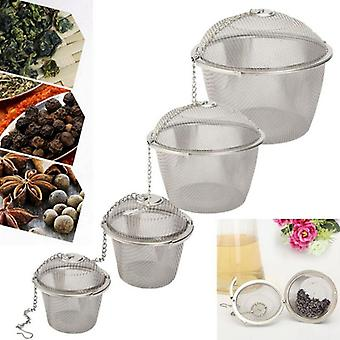 Durable Reusable Stainless Mesh Herbal Ball Tea/spice Strainer Filter Infuser