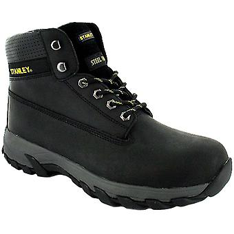 New Mens/Gents Black Stanley Lace Up Steel Toe Cap Safety Boots. UK Size