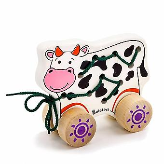 """Alatoys Wooden  Lacing-chairs """"Cow"""""""