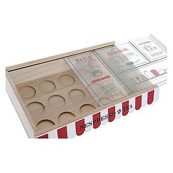 Boks til infusioner Dekodonia Vintage MDF Wood (30 x 19 x 6 cm)