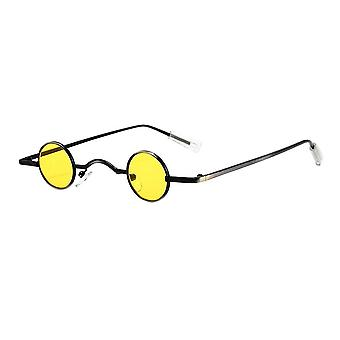 Retro Mini Round Men Metal Frame Small Round Framed Sun Glasses