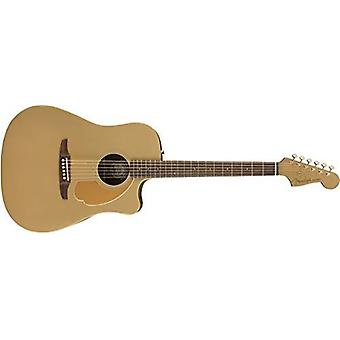 Fender redondo player acoustic guitar - bronze satin - walnut fingerboard