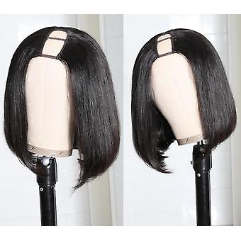 Bob Human Hair U Part Wig Straight Glueless Brazilian Virgin Human