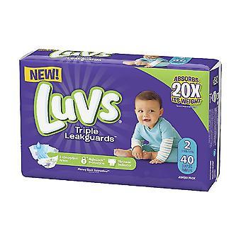 Luvs ultra leakguard diapers, size 2, 40 ea