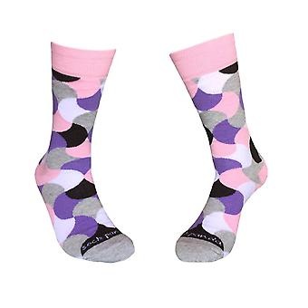 Colorful Purple and Pink Wavy Pattern Socks