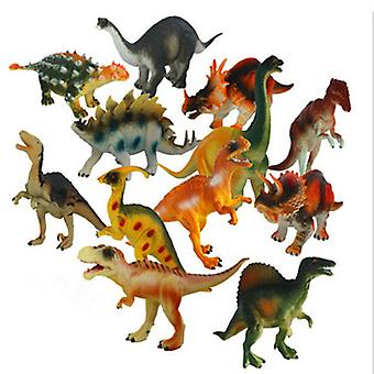 12pcs Children's Simulation Dinosaur Model Toy Educational Toy Model