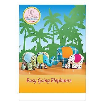 """Ellie Mae Sewing Pattern 0240 K240 7"""" 8 1/2"""" 12""""Elephant Toy"""