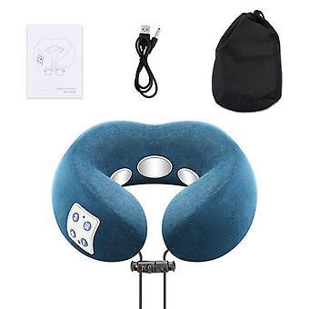 Rechargeable massage pillow with heat neck massager shoulder massage massagem cervical vertebra massagers home travel relax