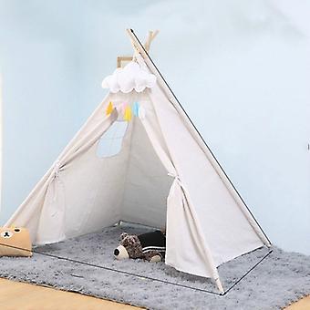 Children's Room Princess Tent Sisäleikkitalo Taitettava telttalehtilehti, koko:1.35m(valkoinen)