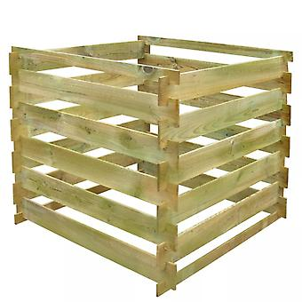 Slatted Compost Bin 0.54 M3 Square Wood