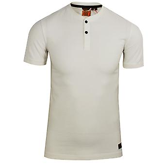Superdry men's rice white henley t-shirt