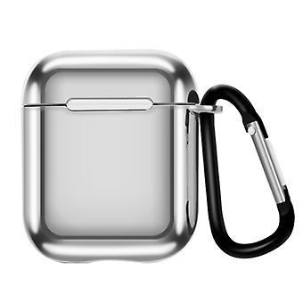Suitable for Airpods 3 generation electroplating TPU protective sleeve Apple Bluetooth wireless headset case with carabiner
