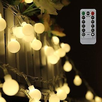 80 Leds Globe Lichterkette 10 Meter, Tomshine Warmweie Kugel Lichterkette mit IR Fernbedienung,