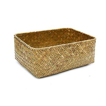 Wicker rattan weaved decor baskets for home organization