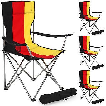 tectake 4 Camping stoler singel - Tyskland