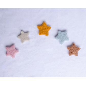 Nyfödda fotorekvisita, baby handgjorda ullstjärnor, dockstudiotillbehör