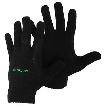 Celtic FC Unisex Official Knitted Football Crest Gloves