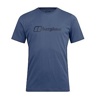 بيرغهاوس شعار كبير الرجال قصيرة الأكمام في الهواء الطلق تي شيرت تي الأزرق