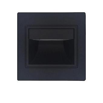 Luce a gradini d'angolo incorporata a induzione LED (nero)